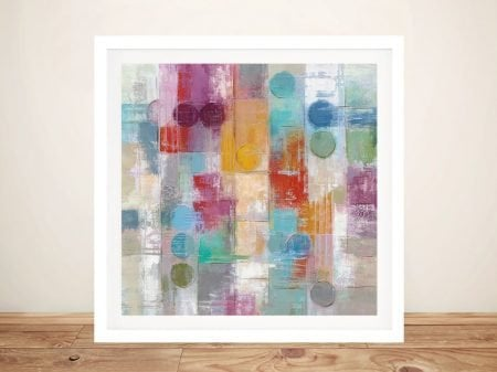 Framed Summer Rain Abstract Art on Canvas