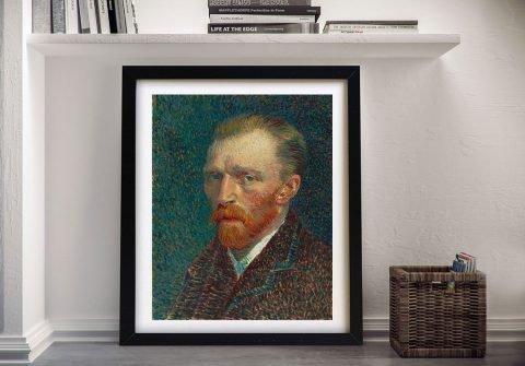 Framed Van Gogh Self Portrait Classic Art