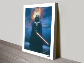 Darth Vader Battlescape Star Wars Canvas Print