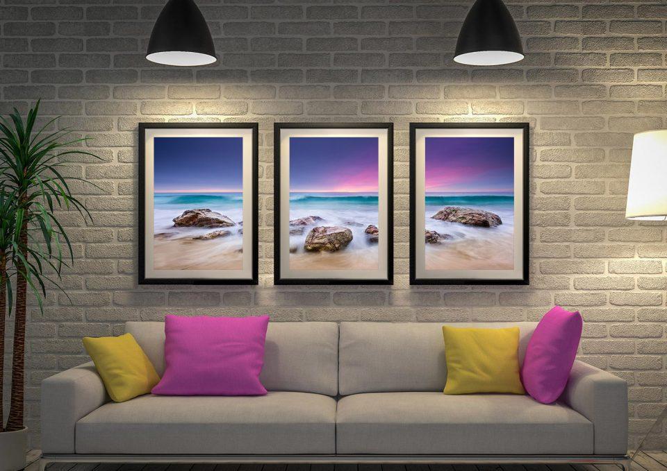 Buy Stunning Seascape Triptych Wall Art Online