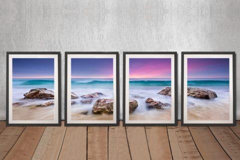 Buy a Purple Hued Sunset 4-Panel Canvas Print