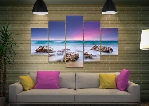 Ready to Hang 5-Piece Seascape Art Print