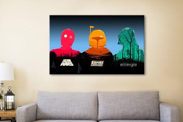 Three Legends of Star Wars Canvas Artwork