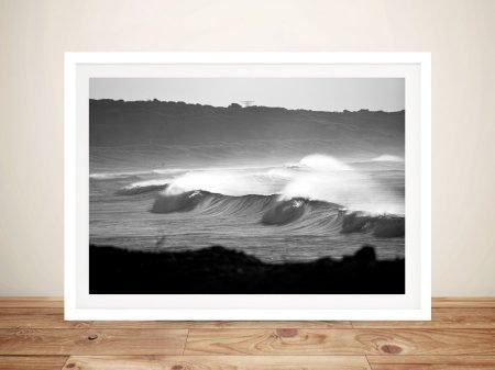 Buy Ocean Sunset Black & White Surf Wall Art