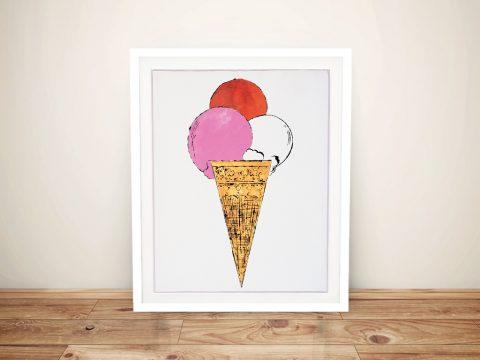 Buy a Colourful Warhol Pop Art Ice Cream Print
