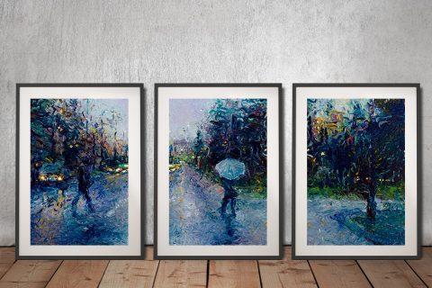 Iris Scott Triptych Canvas