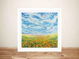 Big Sky Small-Sunflowers Framed Wall Art Print