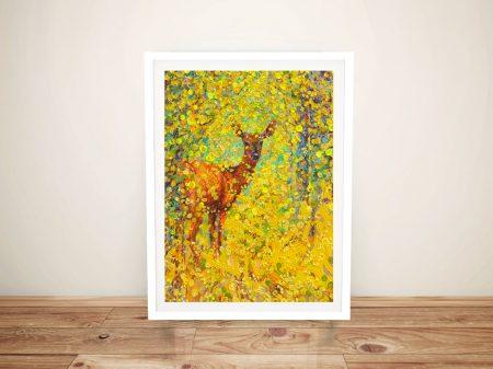 Buy a White Tail Deer Iris Scott Canvas Print