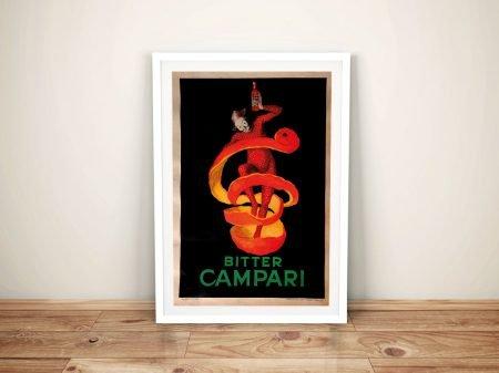 Leonetto Cappiello Bitter Campari Framed Vintage Poster