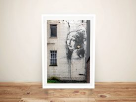 Buy a Banksy Lady On The Wall Art Print Online
