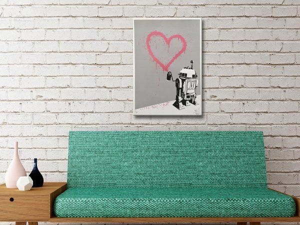 R2-D2 Heart Banksy Art Prints
