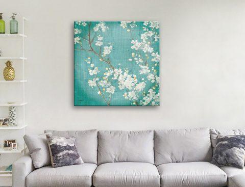 White Cherry Blossom Artwork