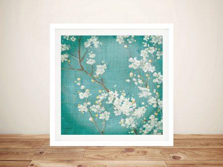 White Cherry Blossom Wall Art