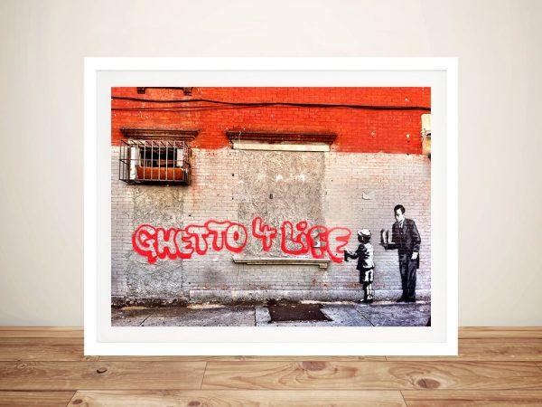 Ghetto 4 life Banksy Framed Wall Art