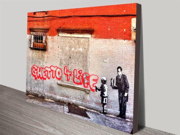 Ghetto 4 Life Banksy Artwork on Canvas