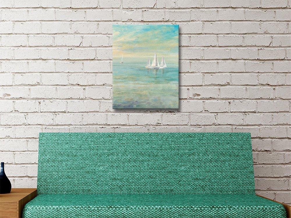 Sunrise Sailboats ll Affordable Canvas Art