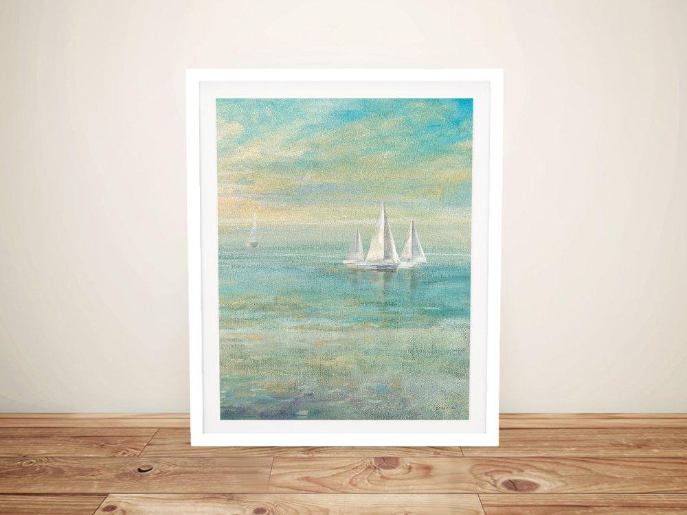 Sunrise Sailboats ll Framed Seascape AU