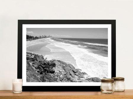 Buy a Miami Beach Black and White Canvas Print