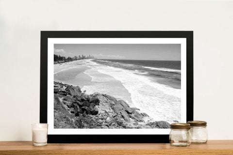 Buy a Miami Beach Black and White Canvas Print