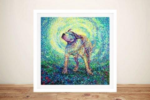 Pitbull Shake Framed Iris Scott Print for Sale