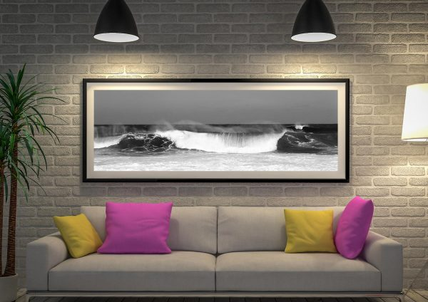 Waves Panoramic Photo Wall Art Picture