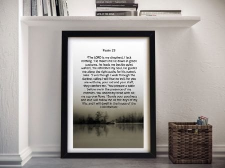 Bible Quotes Psalm 23 Framed Art