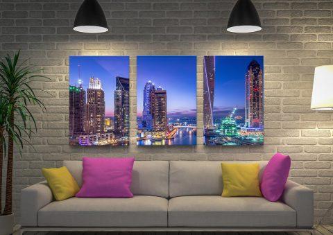 Dubai Marina Ready to Hang 3-Piece Artwork