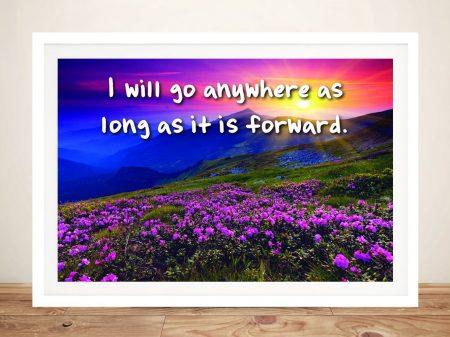 Buy I Will Go Anywhere Framed Inspirational Art