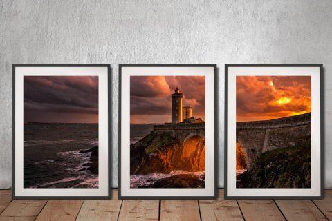 Buy Sunset Lighthouse 3-Panel Art Gift Ideas AU