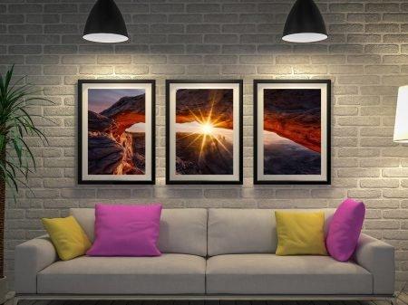 Mesa Arch Sunrise 3 Panel Art