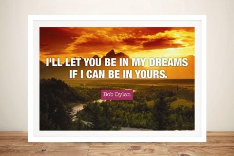 Buy In My Dreams Bob Dylan Quote Wall Art