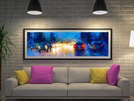 Market Street Panoramic Print on Canvas