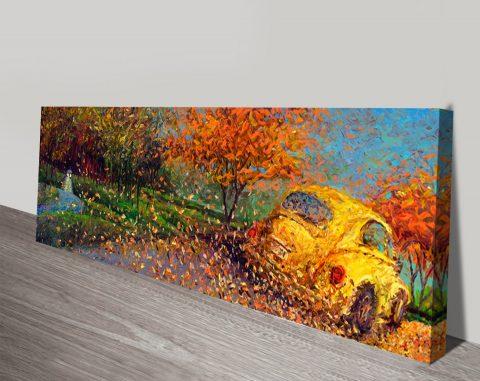 Volkswagen yellow Iris Scott canvas print