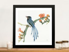 Formosan Blue Magpie Artwork