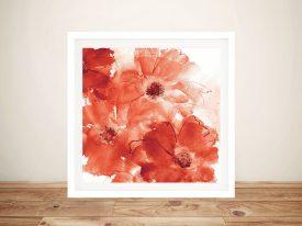 Seashell Cosmos II Red and Orange Chris Paschke Artwork Australia