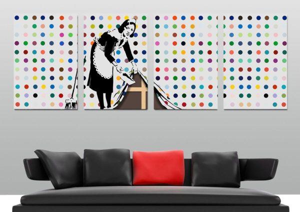 Affordable Banksy Split Panel Wall Art Online