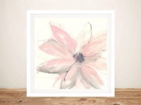 Blush Clematis Framed Print