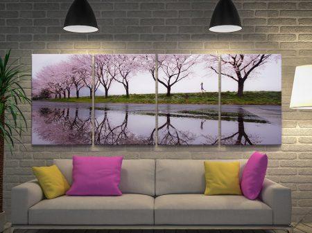 Cherry Blossom Lane 4 Panel Wall Art