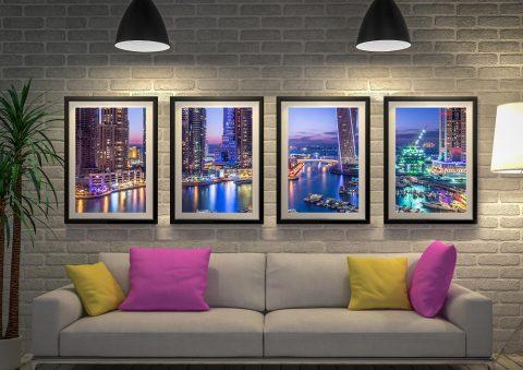 Dubai Marina Skyscrapers 4 Panel
