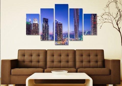 Dubai Marina 5-Piece Art Home Decor Ideas AU