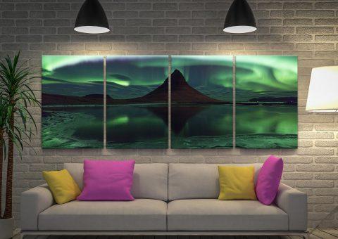 Aurora Borealis Magical Split Panel Art Online