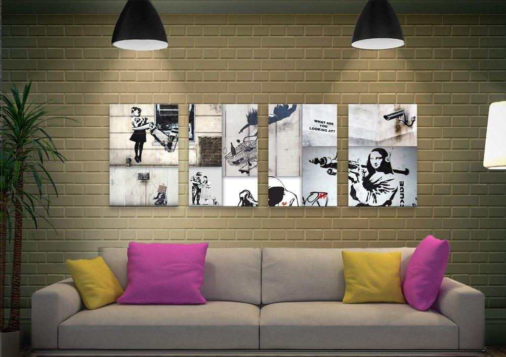 Banksy Split Panel Collages Gift Ideas AU