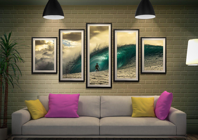 Split Diamond Pipeline Surf Art Print AU