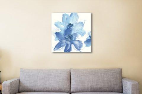 Cobalt Clematis Floral Wall Art Online