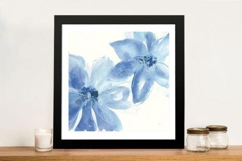 Framed Cobalt Clematis Floral Art Online