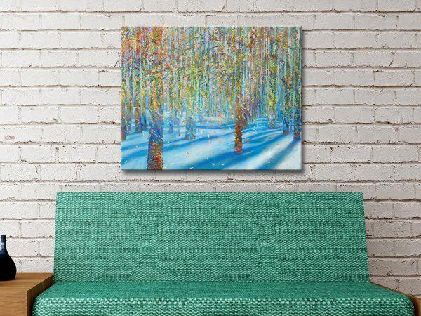 Snowfall Canvas Art Australia