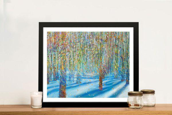 Snowfall Iris Scott Finger Painting Framed Wall Art