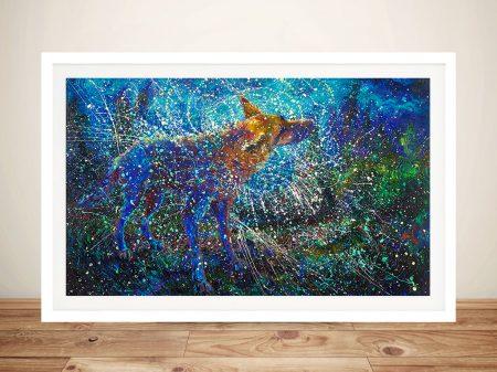 Lobo del Cielo Iris Scott Framed Wall Art