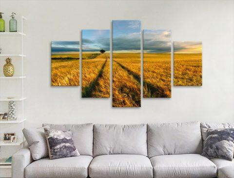 The Wheat Path 5-Panel Wall Art Gift Ideas AU