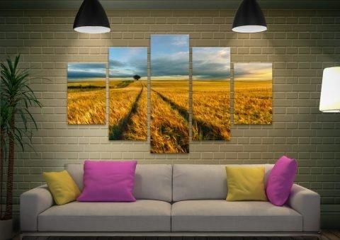 The Wheat Path Ready to Hang Split Panel Art